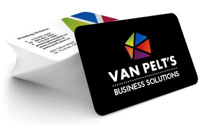 Business cards van pelts print plus make your business card an effective marketing tool using any font any design or graphic print plus can build a business card in an ultra fast turnaround reheart Images
